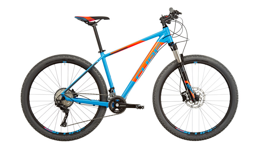 Cube Acid 2x MTB Hardtail orange/blå